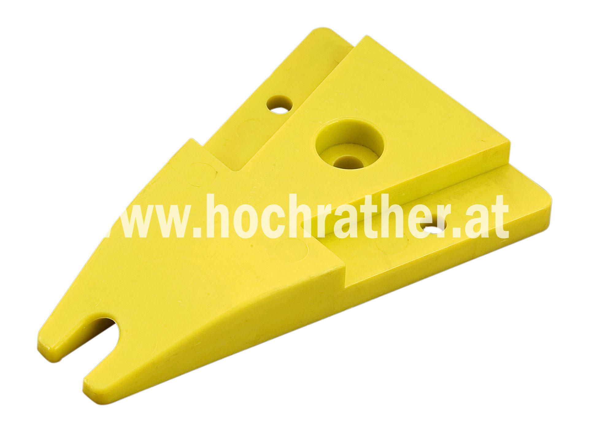 Boden Gleitplatte 17Cm Gelb Plastik (00310496)  Horsch