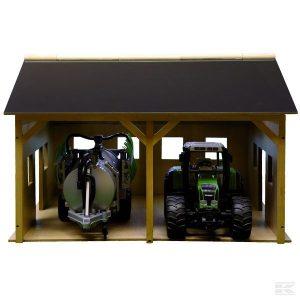 Gerätehalle Holz für 2 Trecker (610338) Kramp