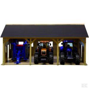 Gerätehalle Holz für 3 Trecker (610340) Kramp