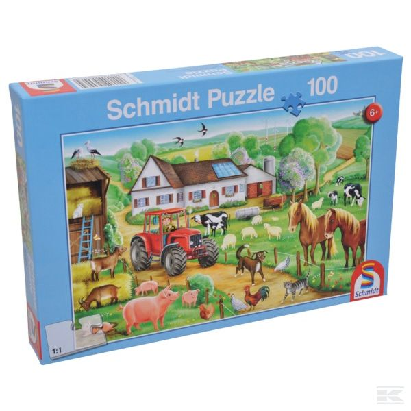 """PUZZLE """"FRöHLICHER BAUERNHOF"""" (SH56003)  Kramp"""