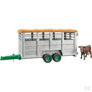 Viehtransportanhänger + 1 Kuh (U02227)  Kramp
