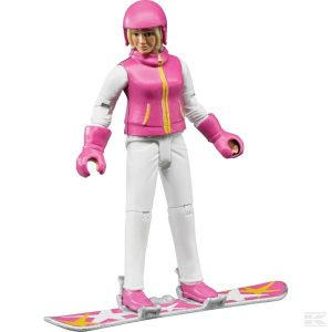 Snowboardfahrerin mit Zubehör (U60420)  Kramp