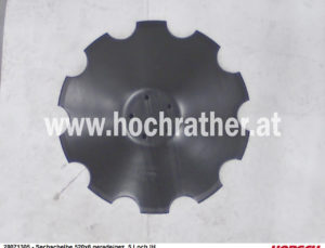 Sechscheibe 520X6 Gezackt 5-Loch