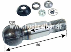 Kugelbolzensatz T80 D20 Kugel (522100030) Umlauf