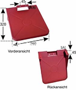 Kennzeichenhalterung T180A/185 (523100022) Umlauf