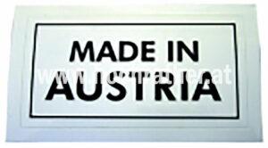 AUFKLEBER  MADE IN AUSTRIA (N72017) Umlauf